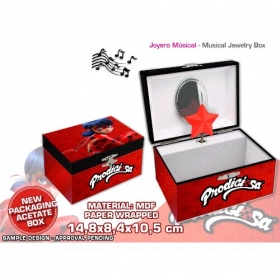 Miraculous, les aventures de Ladybug et Chat Noir music jewellery box