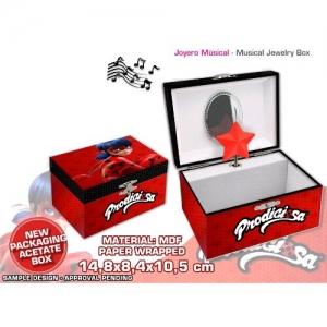 Miraculous, les aventures de Ladybug et Chat Noir music jewellery box