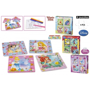 Disney puzzle + coloring pages