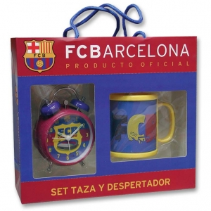 FC Barcelona set - mug + alarm clock