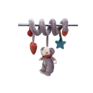 Fisher Price mascot with rattle on spiral – elephant