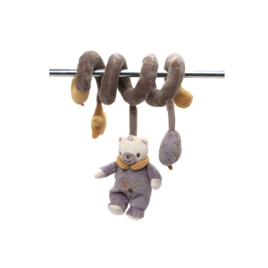 Fisher Price mascot with rattle on spiral – bear