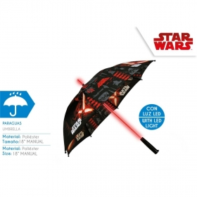 Star Wars manual umbrella with LED lights