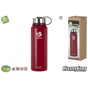 Steel vacuum bottle double wall 1.1 l