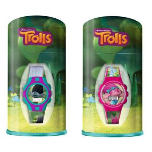 Trolls wristwatch in metal box