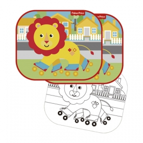 Fisher Price car sun shade 2 pcs + draw – lion