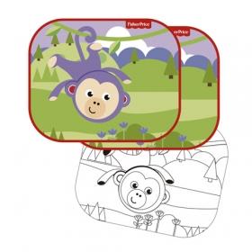Fisher Price car sun shade 2 pcs + draw – monkey
