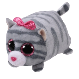 Teeny Tys Cassie - grey cat plush toy 10 cm