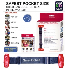 SMART Kid Belt Pocket Size Car Seat Booster Group 2/3 for Kids 4 – 12 Years Old EU ECE R44 Certified EU Road Legal