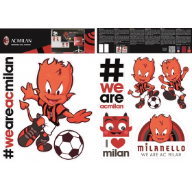 AC MIlan wall sticker graphic 2 sheets