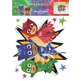 PJ Mask wall sticker characters 1 sheet