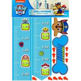 Paw Patrol wall sticker grow chart 1 sheet