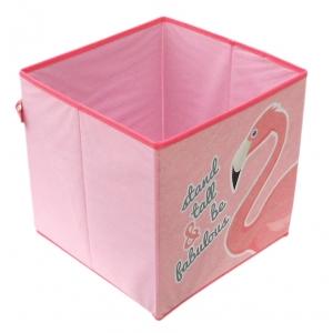 Zaska storage box - flamingo