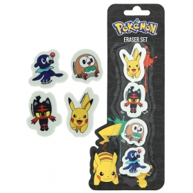 Pokemon Eraser Set