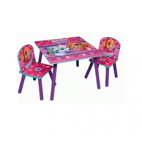 Paw Patrol wooden table and chairs set