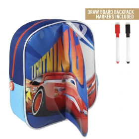 Cars backpack with drawing layer