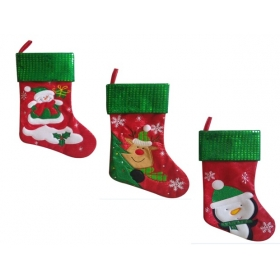Christmas Craft - Stocking snowflake Red/Green - model to choose