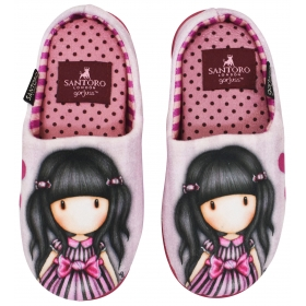 SLIPPERS GORJUSS 100%POL HEARTS WIN KIDS CHINA