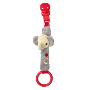 Fisher Price pacifier holder with rattle – elephant