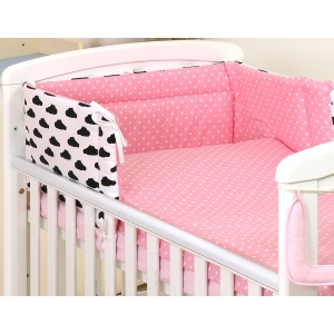 Baby bedding set 5 elements Clouds-Dots