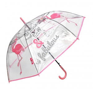 Zaska automatic umbrella - flamingo