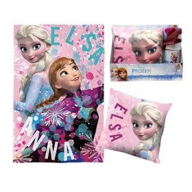 Frozen fleece blanket + cushion set