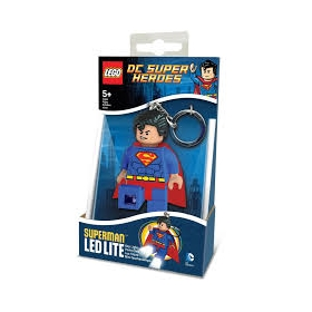 Lego DC Super Heros keychain with LED torch – Superman