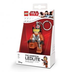 Lego Star Wars keychain with LED torch – Poe Dameron