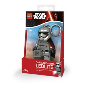 Lego Star Wars Captain Phasma keychain with LED torch