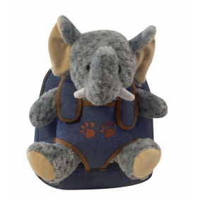 Backpack with removable mascot