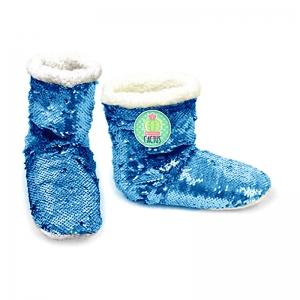 Zaska sequin slippers – cactus