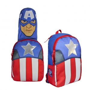 Avengers backpack with hood