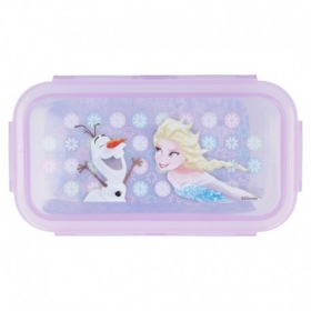 Square Hermetic Food Container 290 Ml Frozen Iridescent Aqua