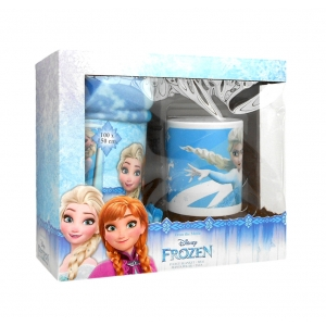 La Reine des neiges porcelain mug and fleece blanket set