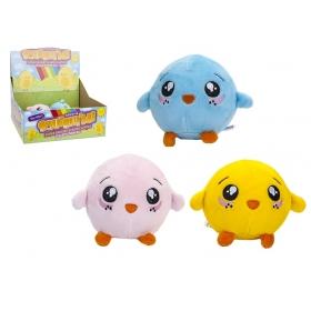 9 cm Squishimi Chick Plush 3 Asst 18 Per Cdu