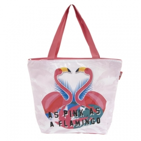Zaska Flamingo beach bag