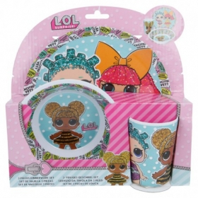 LOL Surprise melamine breakfast set