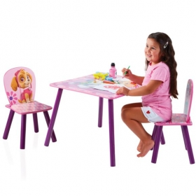 Paw Patrol Skye Kids Table and 2 Chairs Set