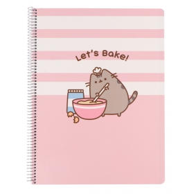 Pusheen Notebook A4 polypropylene 4x4 cover microperforated  rose collection