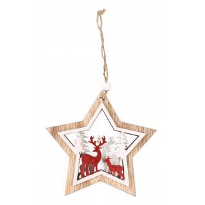 Pendant Christmas star 12x12 / 22 cm
