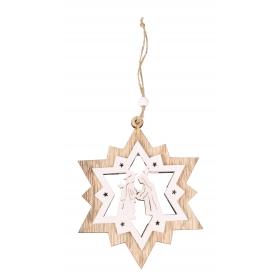 Festive star pendant 11.5x14 / 25 cm