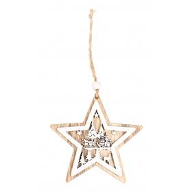 Christmas star pendant 10x10 / 19 cm
