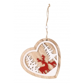 Christmas heart pendant 12.5x12 / 24 cm