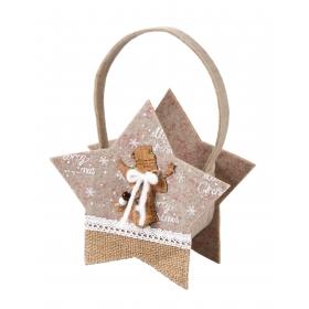 Christmas felt basket 19x8x18 / 26 cm