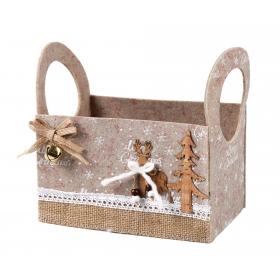 Christmas felt box 20x13x12 / 19 cm