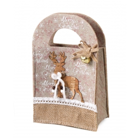 Christmas felt bag 14x8x23 cm
