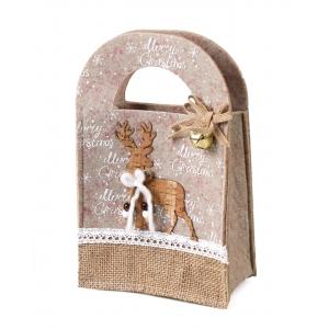 Christmas felt bag 14x8x23 cm