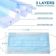 3 ply disposable surgical face mask in display