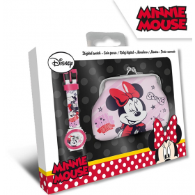 Digital watch + wallet Minnie Mouse