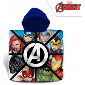 Avengers bathing poncho 60x120 cm